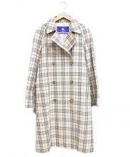 BURBERRY BLUE LABEL(バーバリーブルーレーベル)の古着「ノヴァチェックトレンチコート」|ベージュ