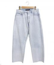 MADISON BLUE(マディソンブルー)の古着「ヘムカットストレートデニムパンツ」|インディゴ
