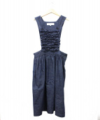 COMME des GARCONS GIRL(コムデギャルソンガール)の古着「フリル装飾デニムサロペット」