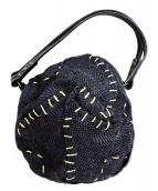 ebagos(エバゴス)の古着「ステッチ巾着バッグ」|ネイビー