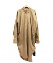 kei shirahata(ケイシラハタ)の古着「ロングシャツワンピース」 ベージュ