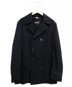 COMME des GARCONS HOMME DEUX(コムデギャルソンオムデュー)の古着「ウールトレンチコート」|ブラック