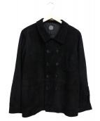 PORTER CLASSIC(ポータークラシック)の古着「ゴートスウェードレザージャケット」 ブラック