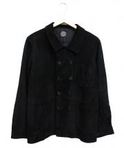 PORTER CLASSIC(ポータークラシック)の古着「ゴートスウェードレザージャケット」|ブラック