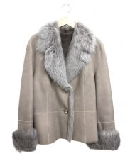 JEAN GUISE(ジャン ギーズ)の古着「ムートンハーフコート」|グレー