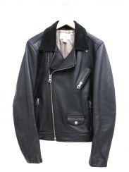 H&M×Edition(エイチアンドエム×エディション)の古着「カウレザーダブルライダースジャケット」