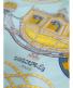 """中古・古着 HERMES (エルメス) カレ90 ホワイト×グリーン サイズ:下記参照 作品名:Paperoles""""侍の鎧兜:17800円"""