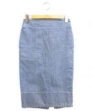 MADISON BLUE(マディソンブルー)の古着「ソフィーデニムタイトロングスカート」|インディゴ