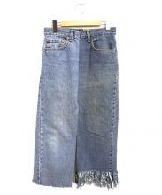 77circa(ナナナナサーカ)の古着「リメイクデニムスカート」|インディゴ