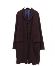 UNDERCOVER(アンダーカバー)の古着「縮絨チェスターコート」|ボルドー