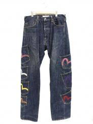 EVISU(エビス)の古着「ユーロモデルメニーポケットデニムパンツ」
