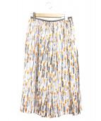 mina perhonen(ミナペルホネン)の古着「キャンドルプリントプリーツミディスカート」