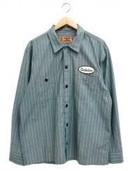 TENDERLOIN(テンダーロイン)の古着「ストライプワークシャツ」