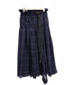 sacai(サカイ)の古着「グラフチェックプリーツスカート」