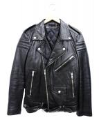 BLK DNM(ブラックデニム)の古着「ダブルライダースジャケット」|ブラック