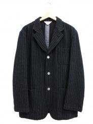 COMME des GARCONS SHIRT(コムデギャルソンシャツ)の古着「ウールコットンピンストライプツイードジャケット」