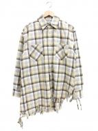 FACTOTUM(ファクトタム)の古着「デザインフリンジネルシャツ」