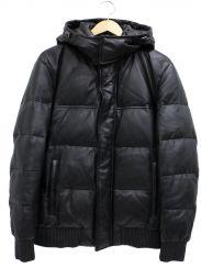 ck Calvin Klein(シーケーカルバンクライン)の古着「ラムレザーダウンジャケット」
