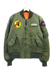 ALPHA×TOPGUN(アルファ×トップガン)の古着「カスタムMA-1フライトジャケット」