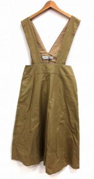 GRANDMA MAMA DAUGHTER(グランマ ママ ドーター)の古着「チノジャンパースカート」