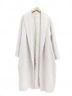 FRAY ID(フレイアイディー)の古着「ウールガウンコート」|ホワイト