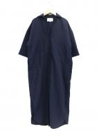ENFOLD(エンフォルド)の古着「ライトツイストコットンシャツドレス」|ネイビー