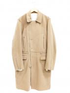 JohnUNDERCOVER(ジョンアンダーカバー)の古着「ライダースコート」|ベージュ