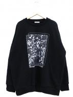 CLANE HOMME(クラネ オム)の古着「別注フラワープリントスウェット」|ブラック