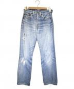 LEVI'S(リーバイス)の古着「[古着]66前期501ヴィンテージ デニム パンツ」 インディゴ