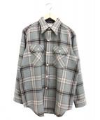 MADISONBLUE(マディソンブルー)の古着「フラップポケットチェックシャツ」