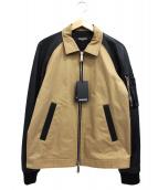 DSQUARED2(ディースクエアード ツー)の古着「コットンアンドレザーボンバージャケット」