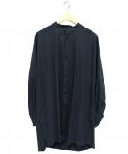 YANTOR(ヤントル)の古着「ラチネコットンロングシャツ」 グリーン