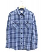 VISVIM(ビズビム)の古着「インディゴ綛染め先染めチェックシャツ」