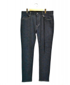 glamb(グラム)の古着「フリンジスキニーデニムパンツ」|インディゴ
