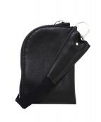 RICK OWENS(リックオウエンス)の古着「カーフレザーストラップコインケース」|ブラック