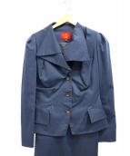 Vivienne Westwood RED LABEL(ヴィヴィアンウエストウッド レッドレーベル)の古着「ドレープラペルセットアップ」