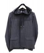 Dior HOMME(ディオールオム)の古着「ウールフーデットジャケット」