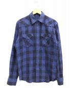 Lucien pellat-finet(ルシアンペラフィネ)の古着「チェックフランネルシャツ」