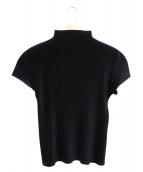 PLEATS PLEASE(プリーツ プリーズ)の古着「ハイネックS/Sプリーツブラウス」|ブラック