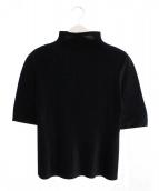 PLEATS PLEASE(プリーツ プリーズ)の古着「ハイネックプリーツS/Sブラウス」|ブラック