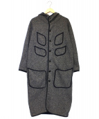KAPITAL(キャピタル)の古着「ブラウンズビーチクロスフーテッドコート」 グレー