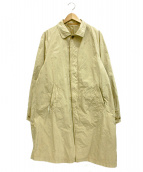 Scye(サイ)の古着「高密度タフタ製品染めステンカラーコート」|ベージュ