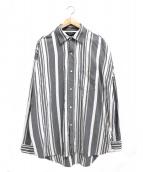 UNUSED(アンユーズド)の古着「オーバーサイズランダムストライプシャツ」