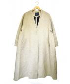 sophila(ソフィラ)の古着「ツイードノーカラーコート」|ベージュ