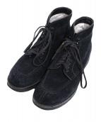 UNITED ARROWS×ALDEN(ユナイテッド アローズ×オールデン)の古着「スウェードタンカーブーツ」|ブラック