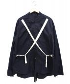 HAUD(ハウド)の古着「ストラップシャツ」|ネイビー
