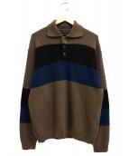 VAINL ARCHIVE(ヴァイナル アーカイブ)の古着「ニットポロシャツ」|ブラウン