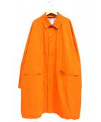 DESCENTE PAUSE(デサントポーズ)の古着「オーバーコート」|オレンジ