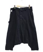 Y's(ワイズ)の古着「ワンショルダーサロペットサルエルパンツ」|ブラック