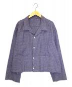URU(ウル)の古着「カットオフオープンカラーシャツ」|ラベンダー